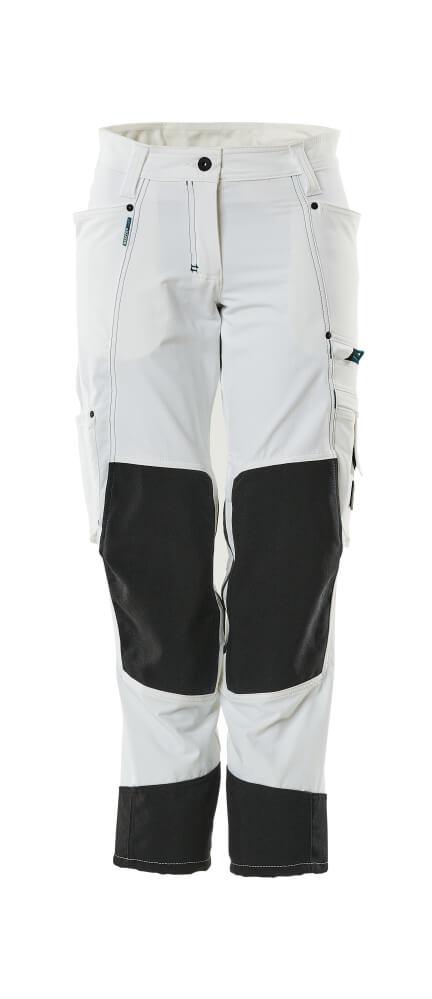 18378-311-06 Hose mit Knietaschen - Weiß
