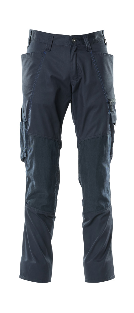 18379-230-010 Hose mit Knietaschen - Schwarzblau