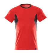 18382-959-20209 T-Shirt - Verkehrsrot/Schwarz