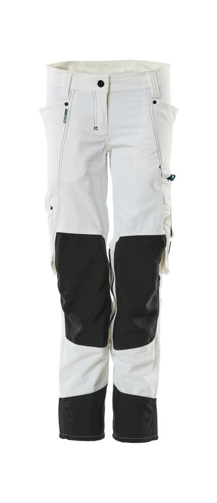 18388-311-06 Hose mit Knietaschen - Weiß