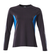 18391-959-01091 T-Shirt, Langarm - Schwarzblau/Azurblau