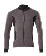 18484-962-1809 Sweatshirt mit Reißverschluss - Dunkelanthrazit/Schwarz