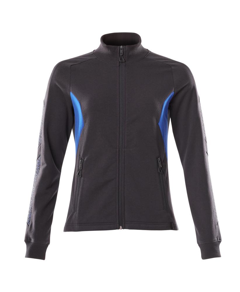 18494-962-01091 Sweatshirt mit Reißverschluss - Schwarzblau/Azurblau