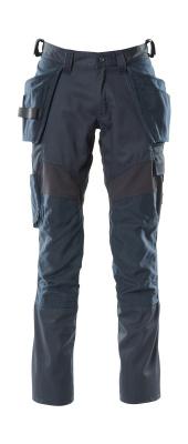 18531-442-010 Hose mit Knie- und Hängetaschen - Schwarzblau
