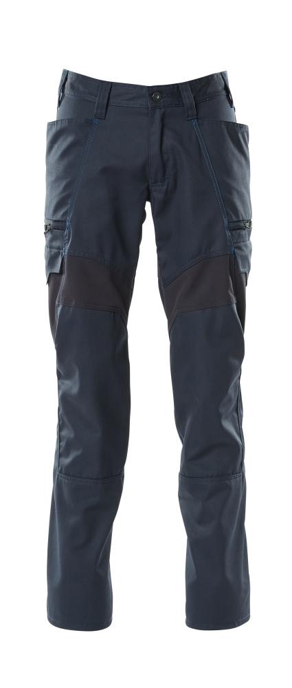 18679-442-010 Hose mit Schenkeltaschen - Schwarzblau