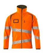 19002-143-1433 Soft Shell Jacke - hi-vis Orange/Moosgrün