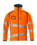 19002-143-1444 Soft Shell Jacke - hi-vis Orange/Dunkelpetroleum