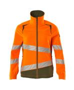 19008-511-1433 Jacke - hi-vis Orange/Moosgrün