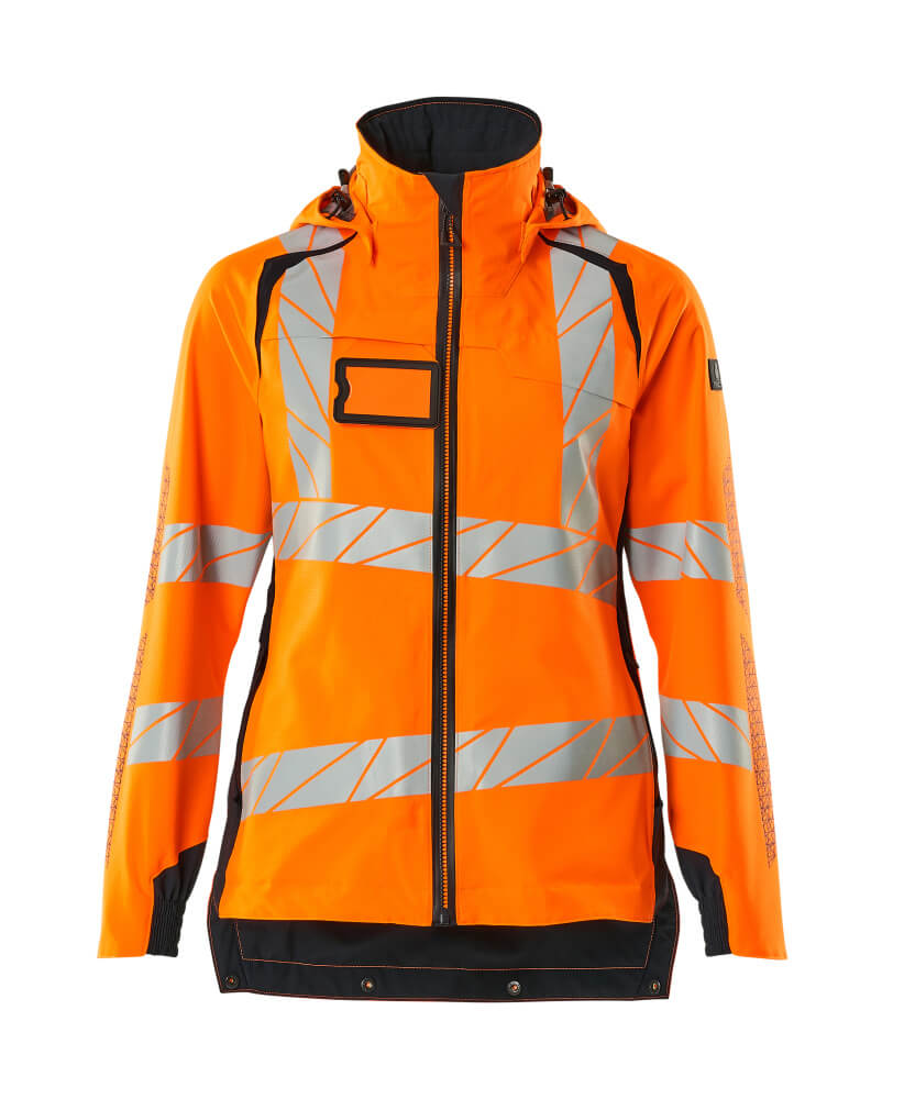 19011-449-14010 Hard Shell Jacke - hi-vis Orange/Schwarzblau