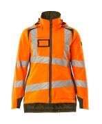 19045-449-1433 Winterjacke - hi-vis Orange/Moosgrün