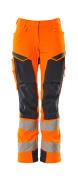 19078-511-14010 Hose mit Knietaschen - hi-vis Orange/Schwarzblau