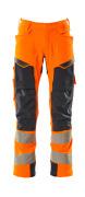 19079-511-14010 Hose mit Knietaschen - hi-vis Orange/Schwarzblau