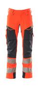 19079-511-14010 Hose mit Hängetaschen - hi-vis Orange/Schwarzblau