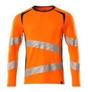 19081-771-14010 T-Shirt, Langarm - hi-vis Orange/Schwarzblau