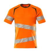 19082-771-1433 T-Shirt - hi-vis Orange/Moosgrün