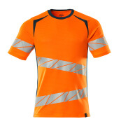 19082-771-1444 T-Shirt - hi-vis Orange/Dunkelpetroleum