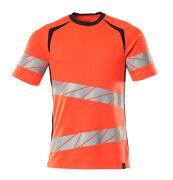 19082-771-22210 T-Shirt - hi-vis Rot/Schwarzblau