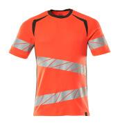 19082-771-22218 T-Shirt - hi-vis Rot/Dunkelanthrazit