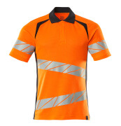 19083-771-14010 Polo-Shirt - hi-vis Orange/Schwarzblau
