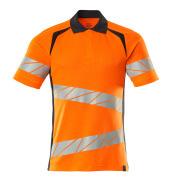 19083-771-14010 Polo-Shirt - hi-vis Orange/Schwarzblau