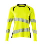 19091-771-14010 T-Shirt, Langarm - hi-vis Orange/Schwarzblau
