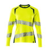 19091-771-1744 T-Shirt, Langarm - hi-vis Gelb/Dunkelpetroleum