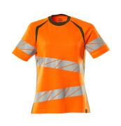 19092-771-1433 T-Shirt - hi-vis Orange/Moosgrün