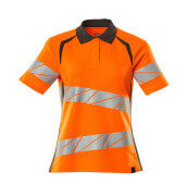 19093-771-1418 Polo-Shirt - hi-vis Orange/Dunkelanthrazit