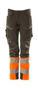 19178-511-01014 Hose mit Knietaschen - Schwarzblau/hi-vis Orange