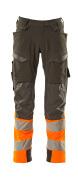 19179-511-01014 Hose mit Knietaschen - Schwarzblau/hi-vis Orange