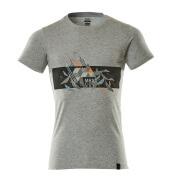 19182-965-0814 T-Shirt - Grau-meliert/hi-vis Orange