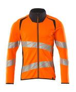 19184-781-14010 Sweatshirt mit Reißverschluss - hi-vis Orange/Schwarzblau