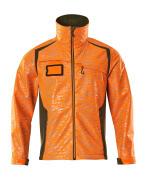 19202-291-1433 Soft Shell Jacke - hi-vis Orange/Moosgrün