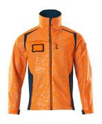 19202-291-1444 Soft Shell Jacke - hi-vis Orange/Dunkelpetroleum