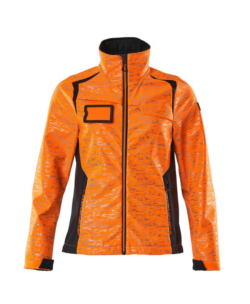 19212-291-14010 Soft Shell Jacke - hi-vis Orange/Schwarzblau