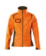 19212-291-1433 Soft Shell Jacke - hi-vis Orange/Moosgrün