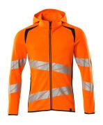 19284-781-14010 Kapuzensweatshirt mit Reißverschluss - hi-vis Orange/Schwarzblau