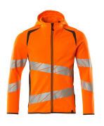 19284-781-1418 Kapuzensweatshirt mit Reißverschluss - hi-vis Orange/Dunkelanthrazit