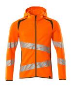 19284-781-1433 Kapuzensweatshirt mit Reißverschluss - hi-vis Orange/Moosgrün