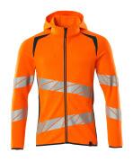 19284-781-1444 Kapuzensweatshirt mit Reißverschluss - hi-vis Orange/Dunkelpetroleum