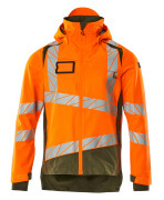 19301-231-1433 Hard Shell Jacke - hi-vis Orange/Moosgrün