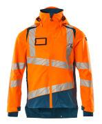 19301-231-1444 Hard Shell Jacke - hi-vis Orange/Dunkelpetroleum