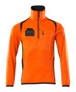 19303-316-14010 Fleecepullover mit kurzem Reißverschluss - hi-vis Orange/Schwarzblau