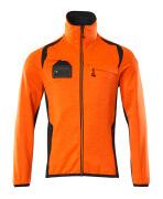 19403-316-14010 Fleecepullover mit Reißverschluss - hi-vis Orange/Schwarzblau