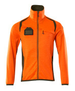 19403-316-1433 Fleecepullover mit Reißverschluss - hi-vis Orange/Moosgrün