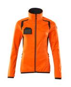 19453-316-14010 Fleecepullover mit Reißverschluss - hi-vis Orange/Schwarzblau