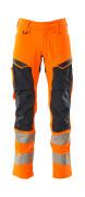 19479-711-14010 Hose mit Knietaschen - hi-vis Orange/Schwarzblau