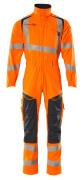 19519-236-14010 Overall mit Knietaschen - hi-vis Orange/Schwarzblau