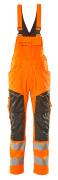 19569-236-1418 Latzhose mit Knietaschen - hi-vis Orange/Dunkelanthrazit