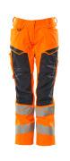 19578-236-14010 Hose mit Knietaschen - hi-vis Orange/Schwarzblau